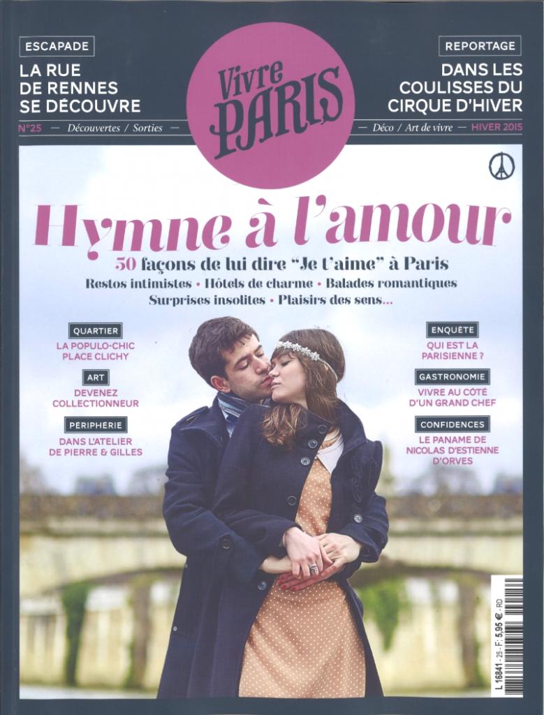 Parution - Restaurant Le Monteverdi -Vivre Paris - Hiver 2015 - Elsa Gabbi - Couverture